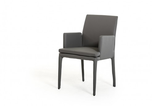 VIG Dex Grey Leatherette Arm Chair Available Online in Dallas Fort Worth Texas