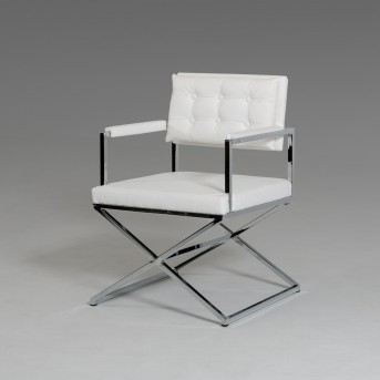 VIG Cosme White Leatherette Arm Chair Available Online in Dallas Fort Worth Texas