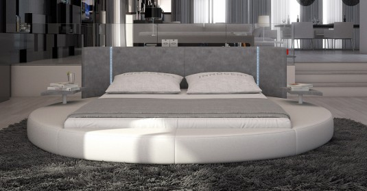 VIG Rotondo Eco-leather Bed With Led Light Available Online in Dallas Fort Worth Texas