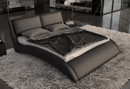 VIG Volo Eco-leather Bed With Curves Available Online in Dallas Fort Worth Texas