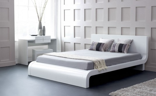 VIG Roma White King Platform Bed Available Online in Dallas Fort Worth Texas