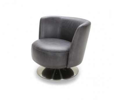 VIG Divani Casa Jill Grey Eco-leather Accent Chair Available Online in Dallas Fort Worth Texas