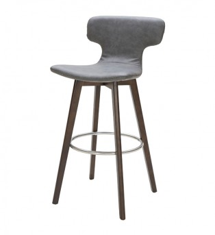 VIG Zach Dark Grey Eco-leather Bar Stool Available Online in Dallas Fort Worth Texas