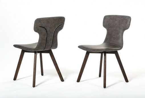 VIG Zach Dark Grey Eco-leather Dining Chair Available Online in Dallas Fort Worth Texas