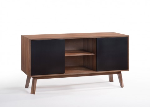 VIG Laken Walnut & Black Buffet Available Online in Dallas Fort Worth Texas