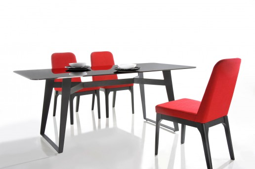VIG Comet Black Glass Dining Table Available Online in Dallas Fort Worth Texas