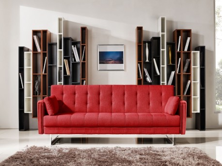 VIG Divani Casa Tejon Red Fabric Sofa Bed Available Online in Dallas Fort Worth Texas