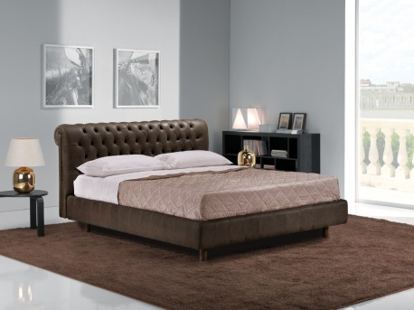VIG Estro Salotti Davemport Brown Leather Bed Available Online in Dallas Fort Worth Texas