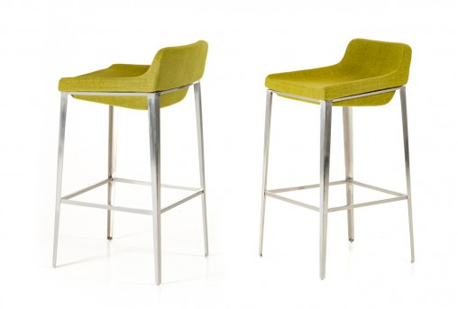 VIG Adhil Green Fabric Bar Stool Available Online in Dallas Fort Worth Texas
