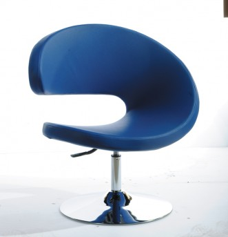 VIG Adara Blue Leatherette Lounge Chair Available Online in Dallas Fort Worth Texas