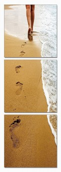 VIG Footprints 3-Panel Photo Available Online in Dallas Fort Worth Texas