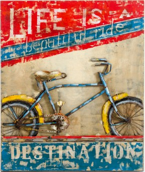 VIG Beautiful Ride Bike Painting Available Online in Dallas Fort Worth Texas