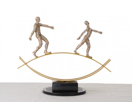 VIG Qawal Bronze Acrobats-Tightrope Sculpture Available Online in Dallas Fort Worth Texas