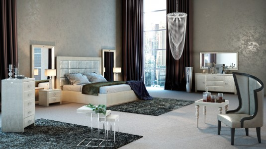 VIG A&X Glam Champagne Bed Available Online in Dallas Fort Worth Texas