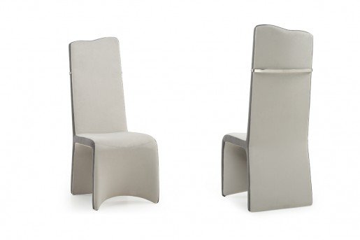 VIG Sapphire Beige & Grey Dining Chair Available Online in Dallas Fort Worth Texas