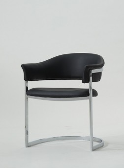 VIG Allie Black Leatherette Arm Chair Available Online in Dallas Fort Worth Texas