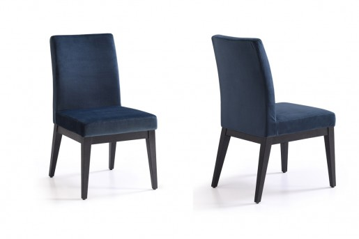 VIG Wales Blue & Smoked Ash Dining Chair Available Online in Dallas Fort Worth Texas