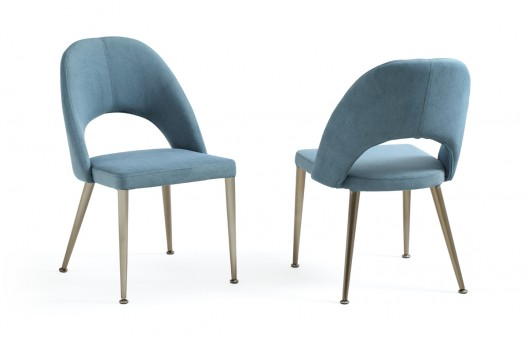 VIG Gloria Blue & Antique Brass Dining Chair Available Online in Dallas Fort Worth Texas