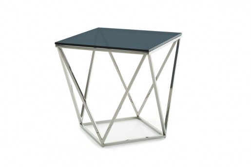 VIG Vector Smoked Glass End Table Available Online in Dallas Fort Worth Texas