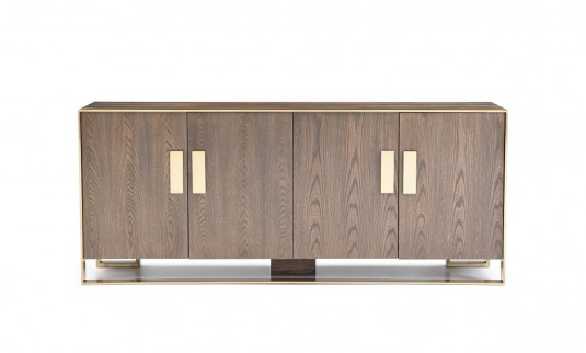 VIG Galant Oak & Antique Brass Buffet Available Online in Dallas Fort Worth Texas