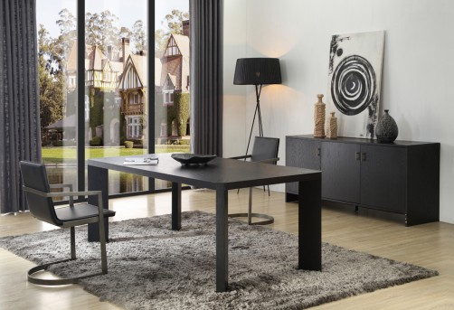 VIG Wales Smoked Ash Dining Table Available Online in Dallas Fort Worth Texas