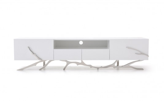VIG Legend White TV Stand Available Online in Dallas Fort Worth Texas