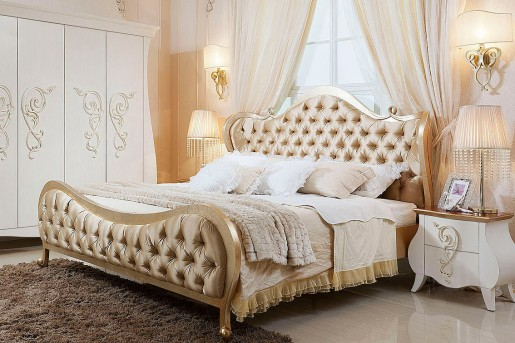 VIG Ravenna Beige Fabric Bed Available Online in Dallas Fort Worth Texas