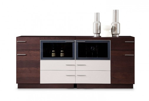 VIG Union Brown Oak Buffet Available Online in Dallas Fort Worth Texas