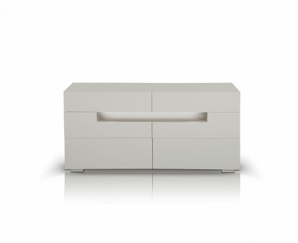 VIG Ceres Led White Lacquer Dresser Available Online in Dallas Fort Worth Texas
