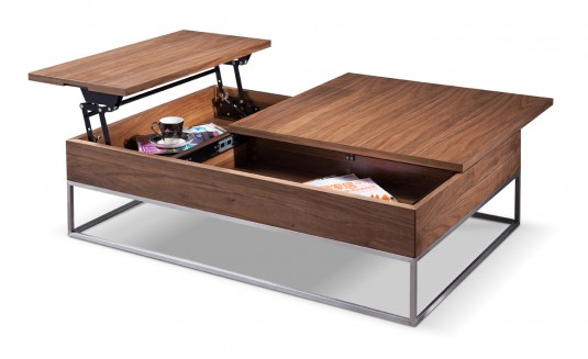 VIG Telson Walnut Coffee Table With Storage Available Online in Dallas Fort Worth Texas
