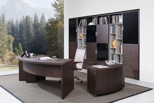 VIG Highland Brown Oak Office Desk Available Online in Dallas Fort Worth Texas