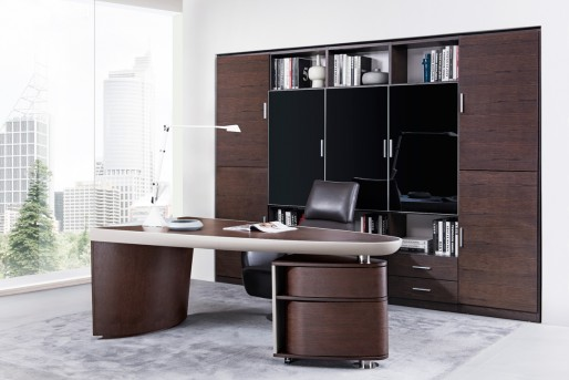 VIG Nolan Brown Oak & Grey Desk Available Online in Dallas Fort Worth Texas