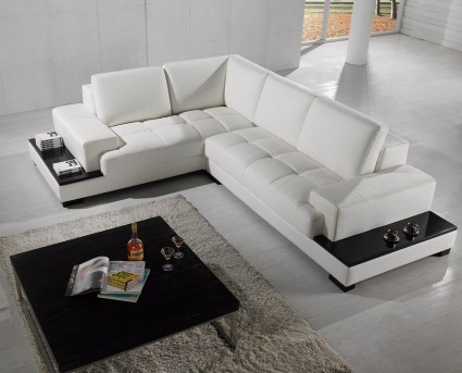 Vig Divani Casa Leather Sectional Sofa Available Online In Dallas Fort Worth Texas