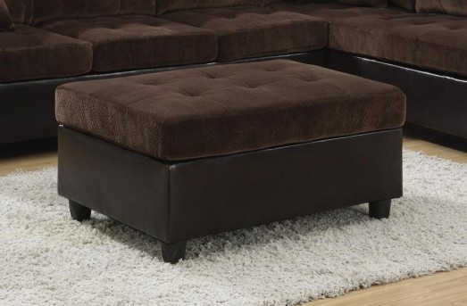 Coaster Mallory Chocolate Velvet Ottoman Available Online in Dallas Fort Worth Texas