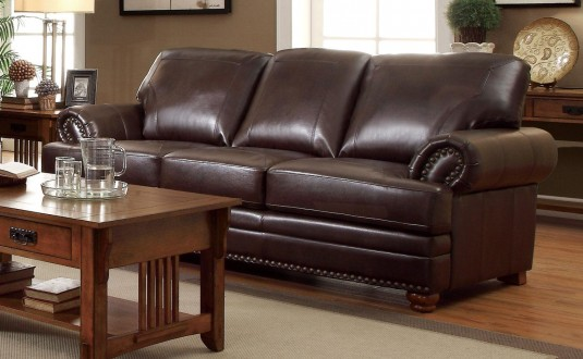 Coaster Colton Brown Sofa Available Online in Dallas Fort Worth Texas