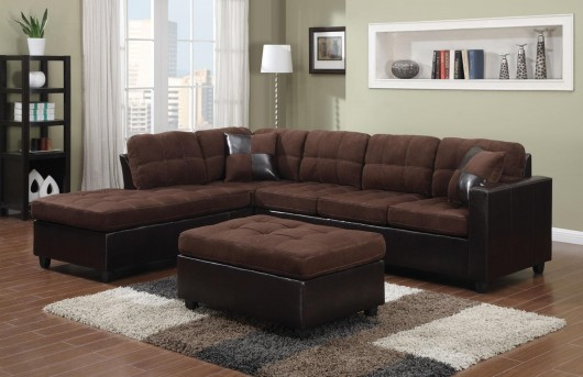 Coaster Mallory Chocolate 2pc Sectional Available Online in Dallas Fort Worth Texas