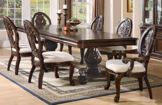 Coaster Tabitha 7pc Double Pedestal Dining Table Set Available Online in Dallas Fort Worth Texas