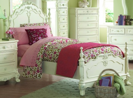 Homelegance Cinderella White Twin Bed Available Online in Dallas Fort Worth Texas