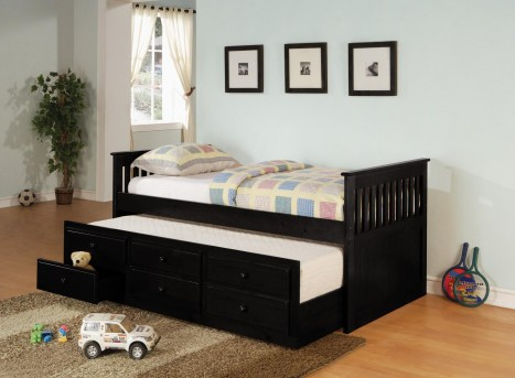 Coaster La Salle Black Twin Captain Daybed Available Online in Dallas Fort Worth Texas