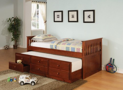 Coaster La Salle Cherry Twin Captain Daybed Available Online in Dallas Fort Worth Texas