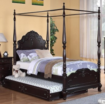Cinderella Cherry Full Canopy Bed Available Online in Dallas Fort Worth Texas