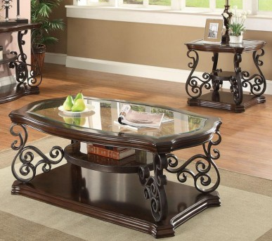 Coaster Mary 3pc Dark Brown Coffee Table Set Available Online in Dallas Fort Worth Texas