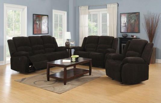 Coaster Gordon Dark Brown Reclining Sofa & Loveseat Available Online in Dallas Fort Worth Texas