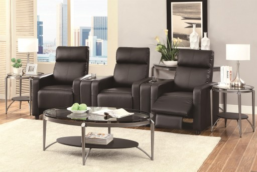 Coaster Toohey 5pc Black Media Seating Available Online in Dallas Fort Worth Texas