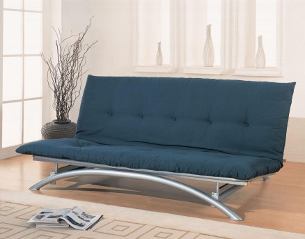 Coaster Ennal Silver Futon Frame Available Online in Dallas Fort Worth Texas