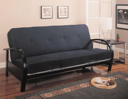 Coaster Slami Tight Back Black Futon Frame Available Online in Dallas Fort Worth Texas