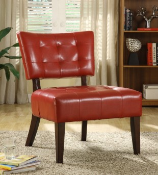 Homelegance Warner Red Accent Chair Available Online in Dallas Fort Worth Texas