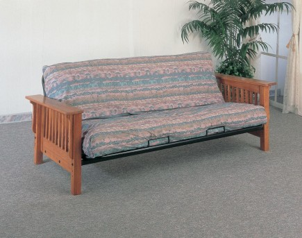 Coaster Mission Solid Oak Arm Futon Frame Available Online in Dallas Fort Worth Texas
