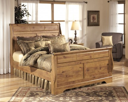 Ashley Bittersweet King Sleigh Bed Available Online in Dallas Fort Worth Texas