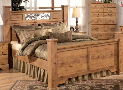 Ashley Bittersweet King Poster Bed Available Online in Dallas Fort Worth Texas